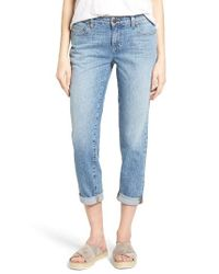 Eileen Fisher | Blue Organic Cotton Boyfriend Jeans | Lyst