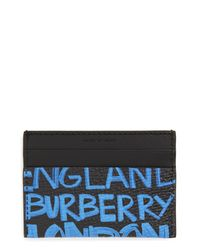 Burberry Black Sandon Leather Card Case