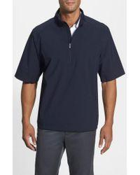 Cutter & Buck Blue 'weathertec Summit' Short Sleeve Shirt for men