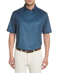 Peter Millar - Blue Snow Star Print Jersey Polo for Men - Lyst