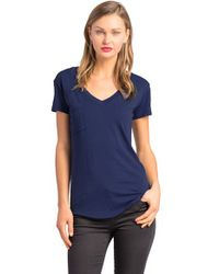 Lamade | Blue V-neck Pocket Tee | Lyst