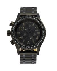 Nixon - Black 'the 38-20' Crystal Bezel Chronograph Bracelet Watch - Lyst