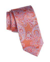 Nordstrom Orange Sovana Paisley Silk Tie for men