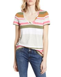 Caslon Pink Caslon Rounded V-neck Tee