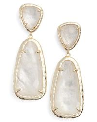 Kendra Scott | Metallic Daria Drop Earrings | Lyst