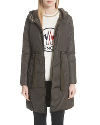Moncler Green Bruant Down Hooded Coat