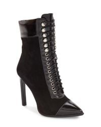Jeffrey Campbell | Black Elphie Pointy Toe Bootie | Lyst