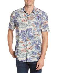 Faherty Brand   Blue Hawaiian Print Rayon Shirt for Men   Lyst