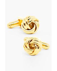 Ox and Bull Trading Co. - Metallic Knot Cuff Links for Men - Lyst
