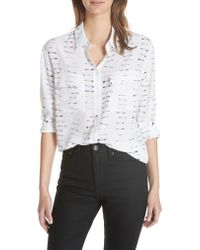 Equipment White Signature Button-down Silk Shirt
