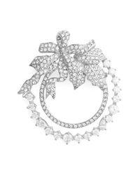 Nadri - Metallic Jolly Wreath Pin - Lyst