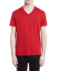 Burberry | Black Lindon Cotton T-shirt for Men | Lyst