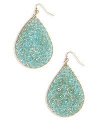 Panacea - Blue Crystal Teardrop Earrings - Lyst