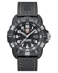 Luminox | Black 'coronado' Rubber Strap Watch for Men | Lyst