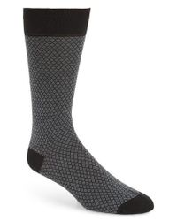 Pantherella Blue Diamond Jacquard Socks for men
