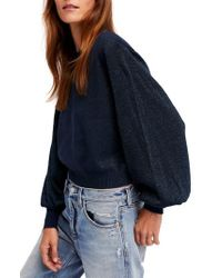 Free People - Blue Let It Shine Sweater - Lyst