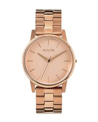 Nixon Metallic 'the Small Kensington' Bracelet Watch