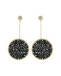Panacea Black Beaded Drop Earrings