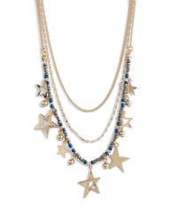 Rebecca Minkoff Metallic Multi Star Delicate Necklace