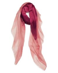 Nordstrom Pink Print Modal & Silk Scarf