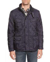 Barbour - Blue 'ariel' Regular Fit Polarquilt Coat for Men - Lyst
