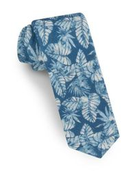Ted Baker Blue Palm Leaf Silk Tie for men