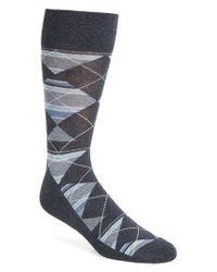 Nordstrom Blue Multistripe Argyle Socks for men