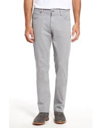 7 Diamonds - Gray Brushed Twill Five-pocket Pants for Men - Lyst