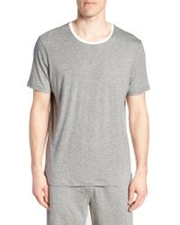 Daniel Buchler - Gray Pima Cotton & Modal Crewneck T-shirt for Men - Lyst