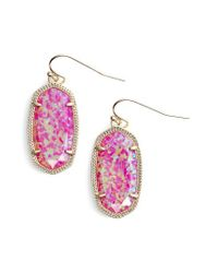 Kendra Scott - Multicolor Dani Stone Drop Earrings - Lyst