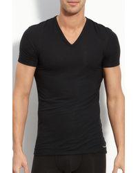 Calvin Klein Gray 'u5563' V-neck Micromodal T-shirt for men