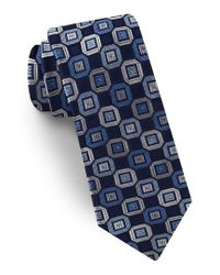Ted Baker - Blue Geometric Silk Tie for Men - Lyst
