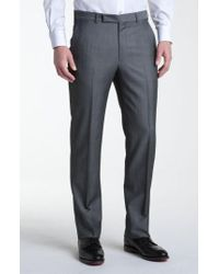 Z Zegna Gray Flat Front Trousers for men