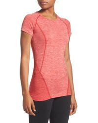 Zella - Red Stand Out Seamless Training Tee - Lyst