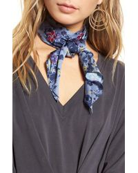 Treasure & Bond - Blue Print Short Tie Scarf - Lyst