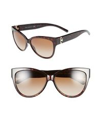 Tory Burch | Brown 59mm Cat Eye Sunglasses | Lyst