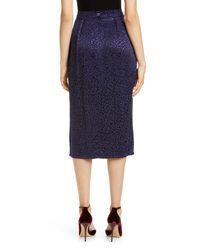 Roseanna Blue Spot Jacquard Midi Skirt