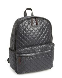 MZ Wallace | Black 'metro' Quilted Oxford Nylon Backpack | Lyst