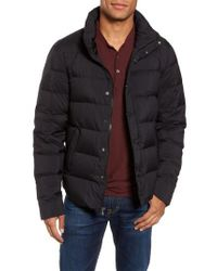 James Perse Black Quilted Down Jacket for men