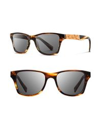 Shwood | Brown 'canby' 53mm Wood Sunglasses for Men | Lyst
