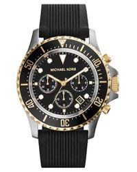 Michael Kors - Metallic Michael Kors 'everest' Chronograph Silicone Strap Watch for Men - Lyst
