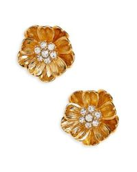 Kate Spade - Metallic Precious Poppies Stud Earrings - Lyst