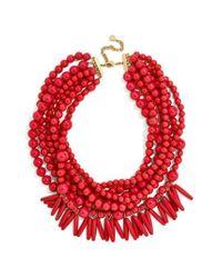 BaubleBar - Red Malibu Beaded Necklace - Lyst