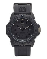 Luminox | Black 'sea - Navy Seal Colormark' Silicone Strap Watch for Men | Lyst