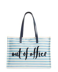 Kate Spade - Blue California Dreaming - Out Of Office Canvas Tote - - Lyst