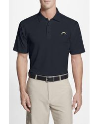 Cutter & Buck Blue 'san Diego Chargers - Genre' Drytec Moisture Wicking Polo for men