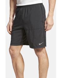 Nike Black Dri-fit Woven Running Shorts for men