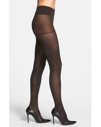 DKNY | Black Opaque Control Top Tights | Lyst