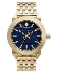 Tory Burch Metallic 'whitney' Bracelet Watch