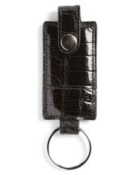 Boconi - Black Alligator Key Fob for Men - Lyst